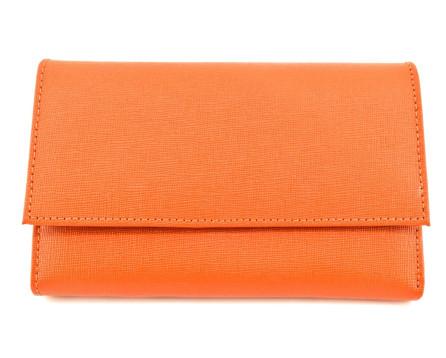 Dámská kožená peněženka Arteddy - oranžová