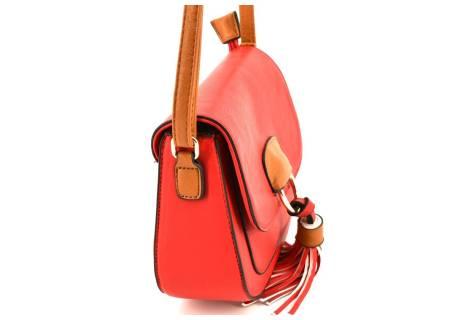Dámská kabelka crossbody - červená