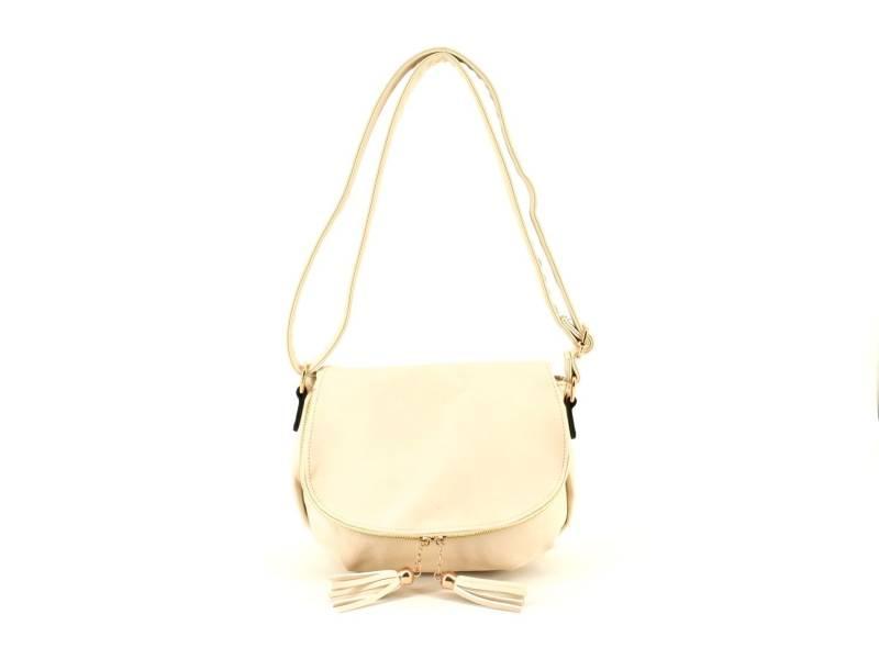 Dámská kabelka crossbody - krémová  5a6e5ceb293