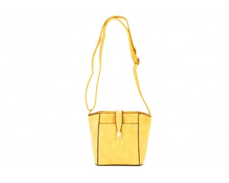 Dámská kabelka crossbody - žlutá