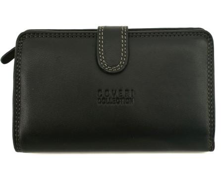 Dámská kožená peněženka Coveri Collection - černá