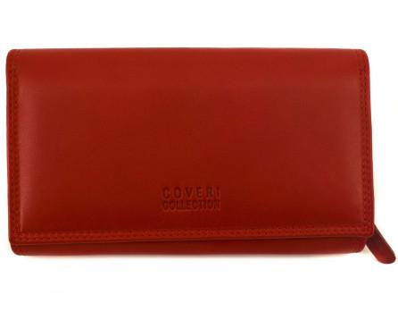Dámská kožená peněženka Coveri Collection - červená