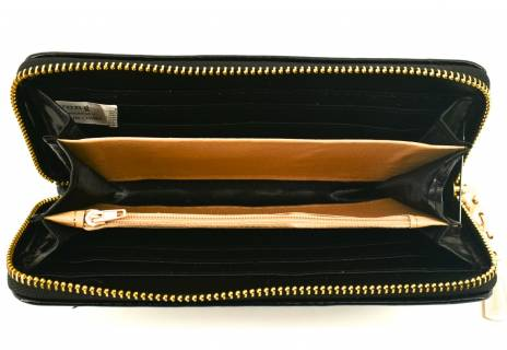 Dámská / dívčí peněženka  pouzdrového typu lakovaná - černá