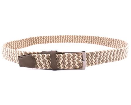 Pánský / dámský opasek elastický - béžová 120