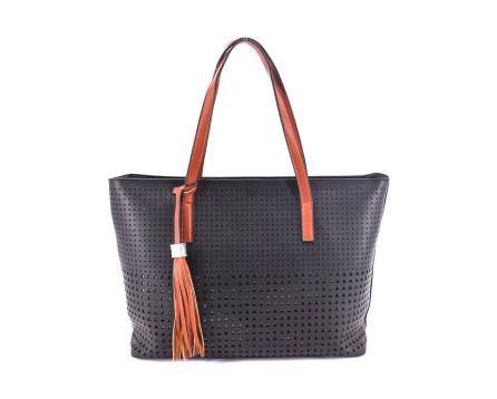 Dámská kabelka - černá/hnědá